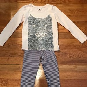 Tea Collection 2pc legging outfit.  EUC